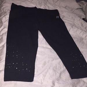 Victoria's Secret laser cut crop leggings